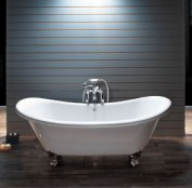 BC Designs Traditional Excelsior Acrylic Bath with Polished Feet