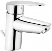 Vitra Dynamic S Monobloc Basin Mixer with Pop-up Waste