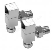 Essential 15mm Chrome Square Corner Valve (Pair)