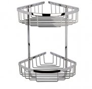 BC Designs Victrion Double Corner Shower Basket (Stock Clearance)