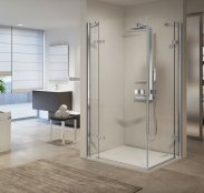 Novellini Gala A Frameless Corner Entry Shower Enclosure
