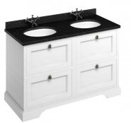 Burlington 130cm Vanity Unit with Four Drawers and Worktop