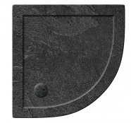 Zamori 1000 x 1000mm Slate Effect Quadrant Shower Tray