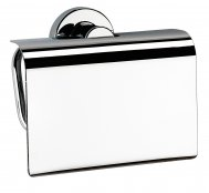 Bathroom Origins Tecno Project Toilet Roll Holder With Flap - Chrome