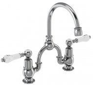 Burlington Kensington Bridge Basin Mixer with Curved Spout