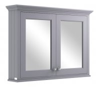 Bayswater 1050mm Plummett Grey Mirror Wall Cabinet
