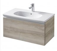 Sottini Mavone 100cm Wall Mounted 1 Drawer Vanity Basin Unit