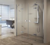 Novellini Gala 2A Frameless Double Hinged Shower Enclosure