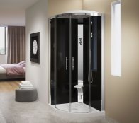Novellini Crystal R90 Standard Quadrant Shower Enclosure (No Dome)