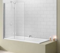 Merlyn Two Panel Folding Bath Screen MB8