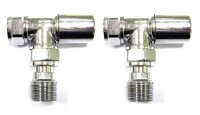 Essential 15mm Chrome Standard Angled Valve (Pair)