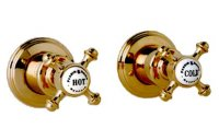 "Perrin & Rowe 3/4"" Wall Valves with Crosshead Handles (Pair)"