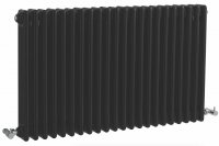 Bayswater Nelson Double 1011 x 600mm Gloss Black Radiator
