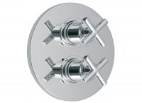 Vado Elements Concealed 2 Outlet 2 Handle Thermostatic Shower Valve