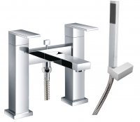 Just Taps Plus Athena Bath Shower Mixer Tap Pillar Mounted - Chrome