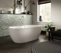 The White Space Senna Freestanding Double Ended Bath - 1555mm x 750mm