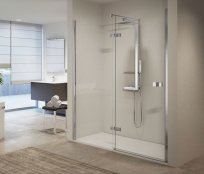 Novellini Gala 2P Frameless Hinged + Inline Shower Enclosure
