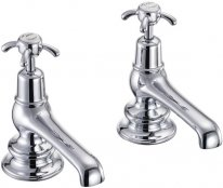 Burlington Anglesey Regent Bath Pillar Taps