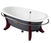 Roca Eliptico 170 x 85cm Freestanding Cast Iron Bath