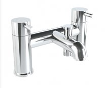 Vitra Minimax S Two Tap Hole Bath Shower Mixer including Handshower