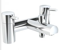 Vitra Pure Two Hole Bath Shower Mixer including Handshower