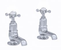 Perrin & Rowe Basin Pillar Taps with Crosshead Handles (3476)