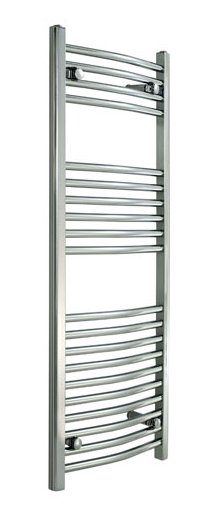 Redroom Elan Curved Chrome 1800 x 600mm Towel Radiator