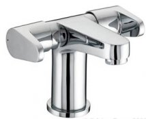 Bristan Quest 2 Handled Basin Mixer with Clicker Waste