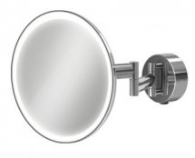 HIB Eclipse Round LED Extendable Magnifying Mirror