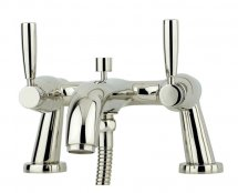 Perrin & Rowe Deck Mounted Bath Shower Mixer with Lever Handles