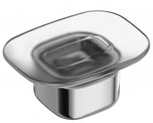 Ideal Standard Softmood Frosted Glass Soap Dish & Holder