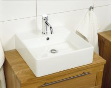 Miller Square Ceramic Basin (172W-1)
