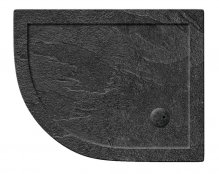 Zamori 1200 x 800mm Slate Effect Offset Quadrant Shower Tray