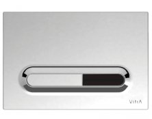 Vitra Chrome Plated 12cm Photocell Loop T Panel Flush Plate