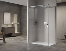 Novellini Opera PH+FH Slider + Fixed Panel Shower Enclosure