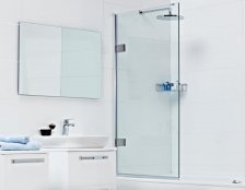 Roman Decem x Hinged Bath Screen
