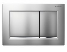 Geberit Omega 30 Gloss Chrome/Matt Chrome/Gloss Chrome Dual Flush Plate