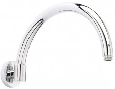 Bayswater Chrome Wall Mounted Curved Shower Arm