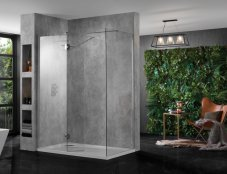 Aquadart Wetroom 10 Walk In with Return Panel and Side Panel