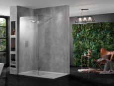 Aquadart Wetroom 10 Walk In with Return Panel
