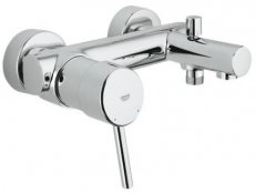 Concetto Wall or Deck Mounted Basin Mixer with Pop-up Waste