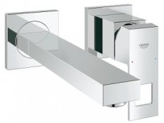 Grohe Eurocube OHM Wall Mounted 2-Handled Trimset Basin