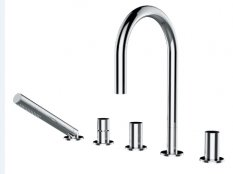 Kartell by Laufen 5 Hole Bath Shower Mixer