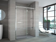 Merlyn 8 Series Frameless Hinge & Inline in a Recess