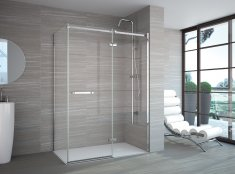 Merlyn 8 Series Frameless Hinge & Inline with Side Panel