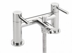 Tre Mercati Poppy Pillar Bath Shower Mixer with Kit