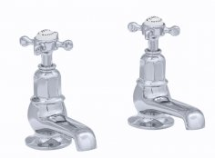 Perrin & Rowe Bath Pillar Taps with Crosshead Handles (3456)