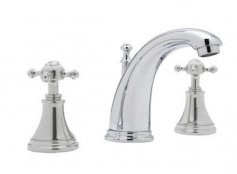 Perrin & Rowe 3Hole Deck Mounted Basin Mixer with Crosshead Handles (3713)