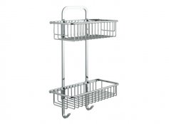 Vado Large Rectangular Double Shower Basket
