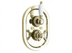 Vado Westbury Antique Gold 1 Outlet Thermostatic Shower Valve